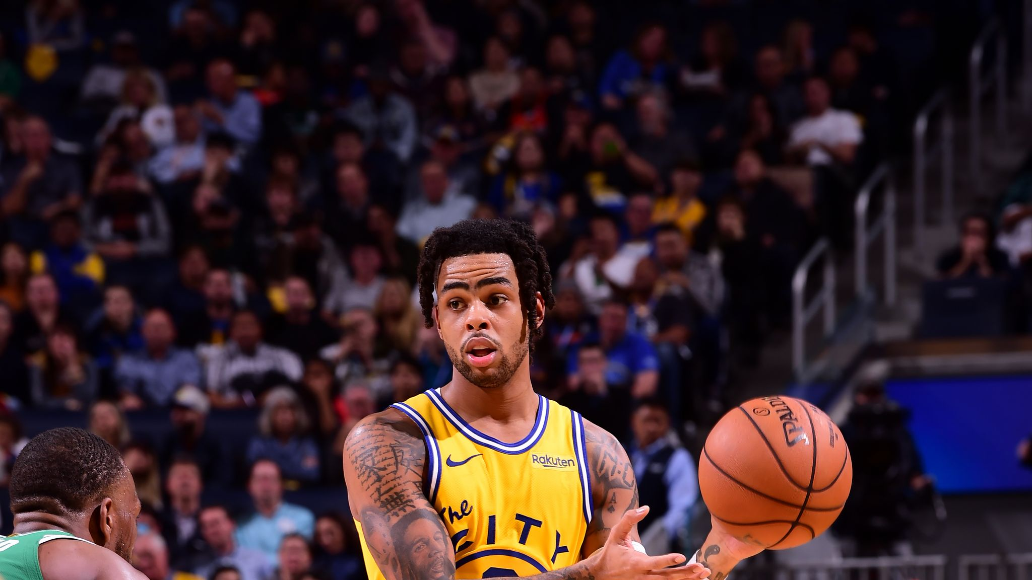 Golden State Warriors D'Angelo Russell out for at least two weeks