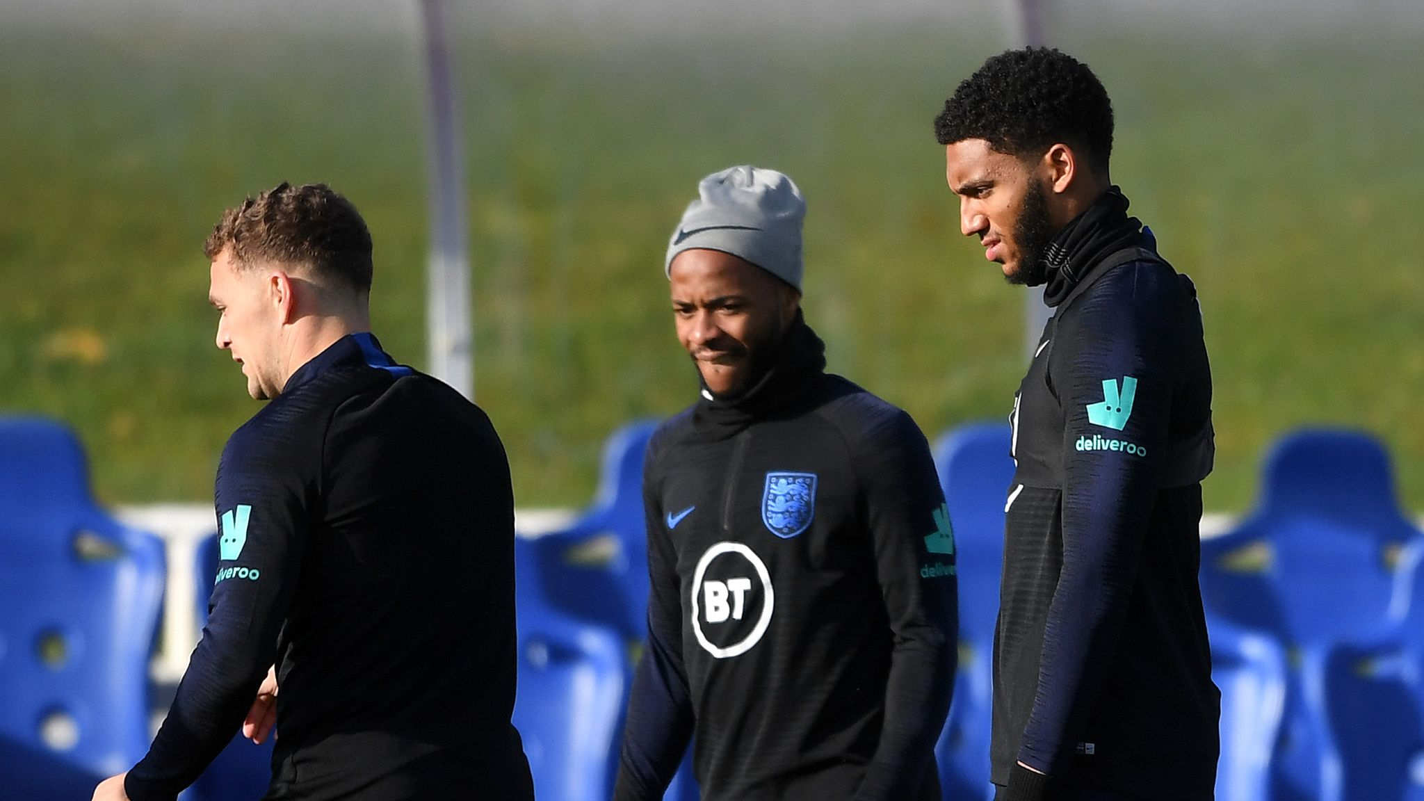 Raheem Sterling and Joe Gomez train together for England after altercation