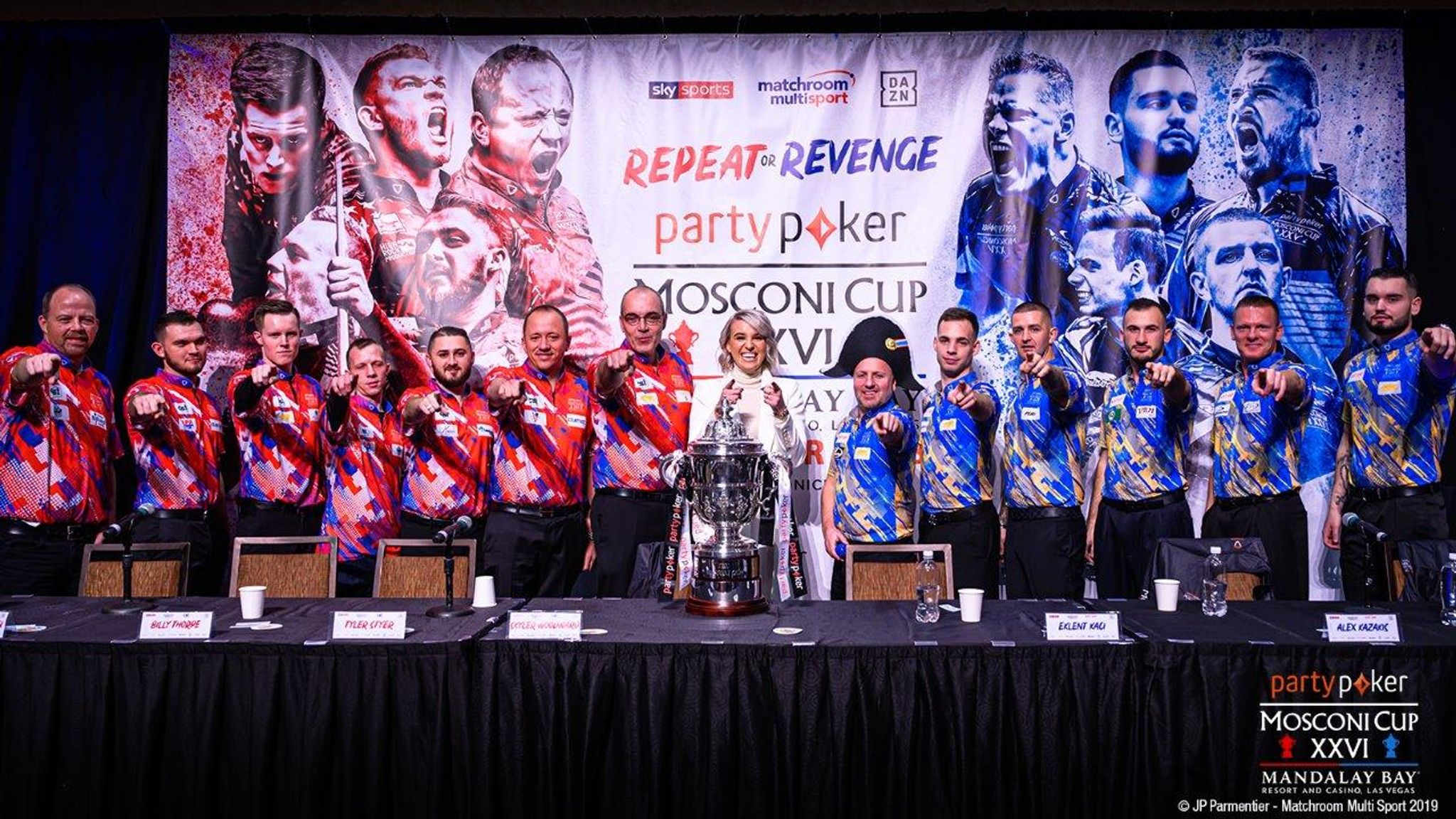 Team USA and Europe embroiled in war of words at Mosconi Cup pre ...