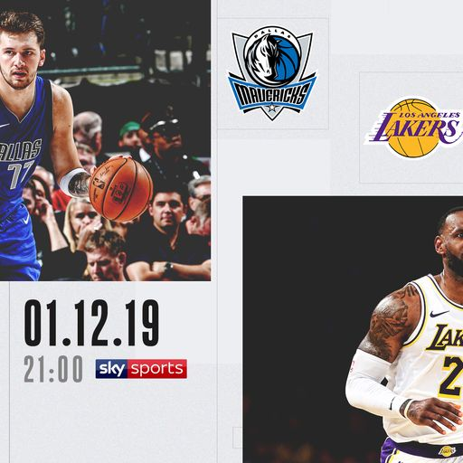 Mavericks @ Lakers free on Sky Sports