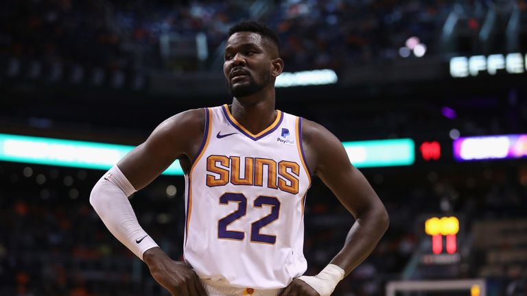 DeAndre Ayton in action for Phoenix on the opening night of the 2019-20 season
