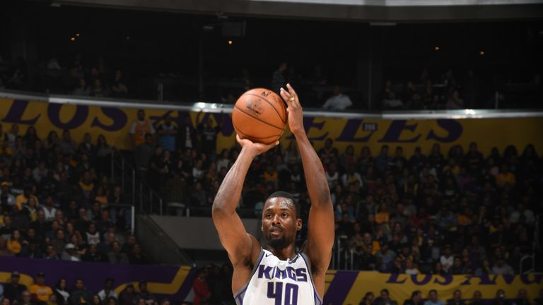 Harrison Barnes launches from long-distance against the Lakers