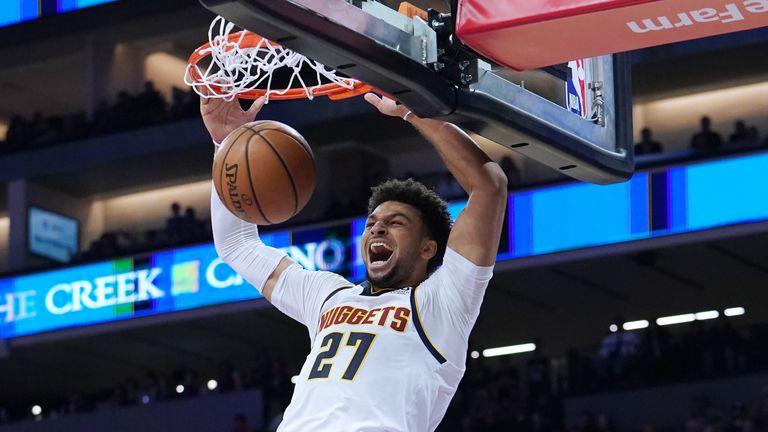 Jamal Murray hammers home a dunk
