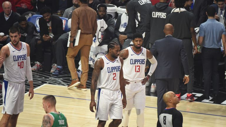 Kawhi Leonard and Paul George share the court for the first time as Clippers players