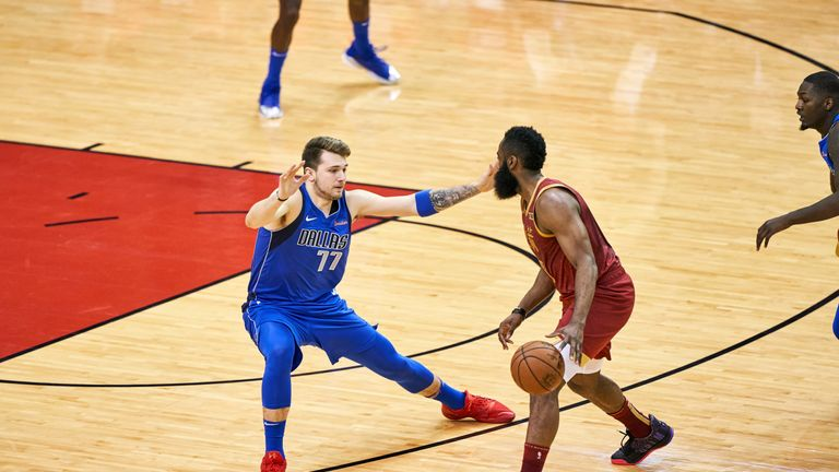 Luka Doncic guard James Harden