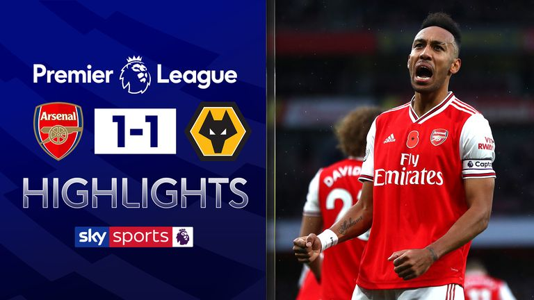 FREE TO WATCH: Highlights from Arsenal's draw with Wolves in the Premier League