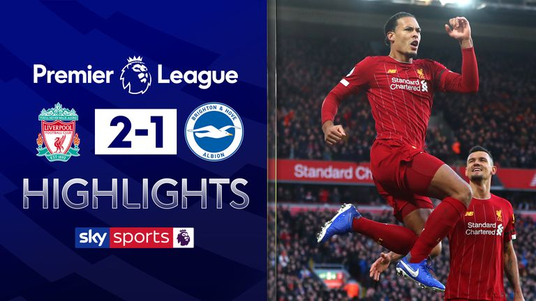 FREE TO WATCH: Highlights from Liverpool's 2-1 win against Brighton in the Premier League