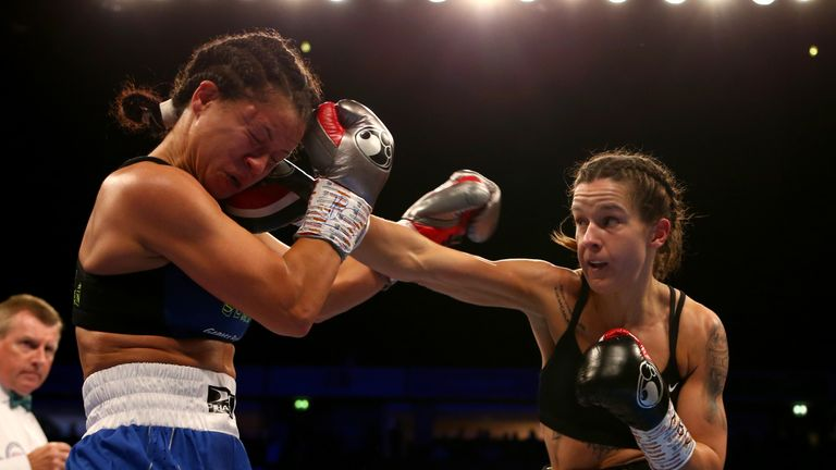 Terri Harper secured her ninth straight win as a professional