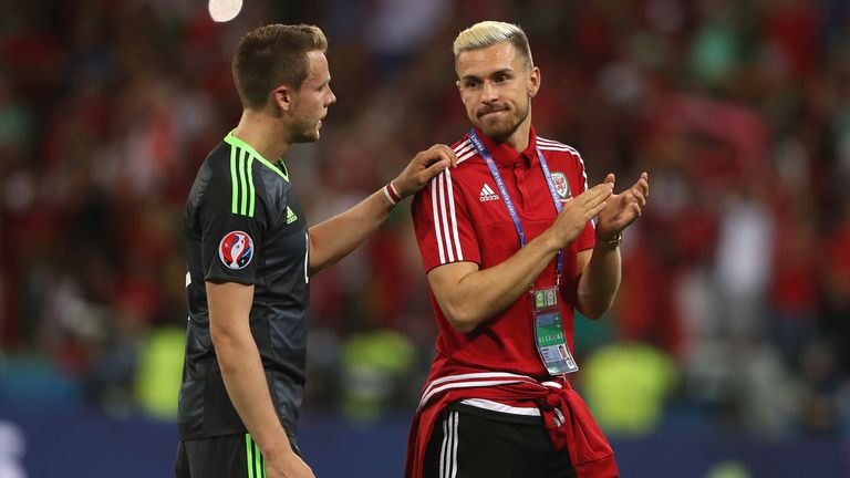 Wales' Aaron Ramsey (right) wants to repeat the heroics of Euro 2016