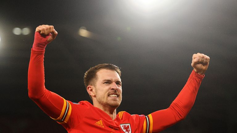 Aaron Ramsey netted twice as Wales made it to Euro 2020