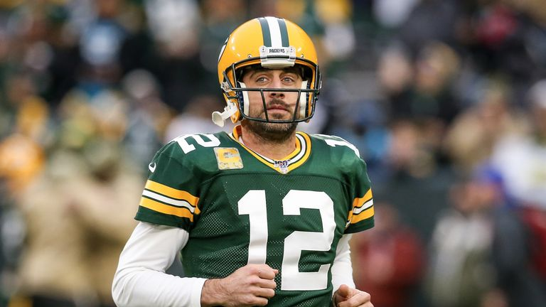 Aaron Rodgers was sacked five times by San Francisco on Sunday night