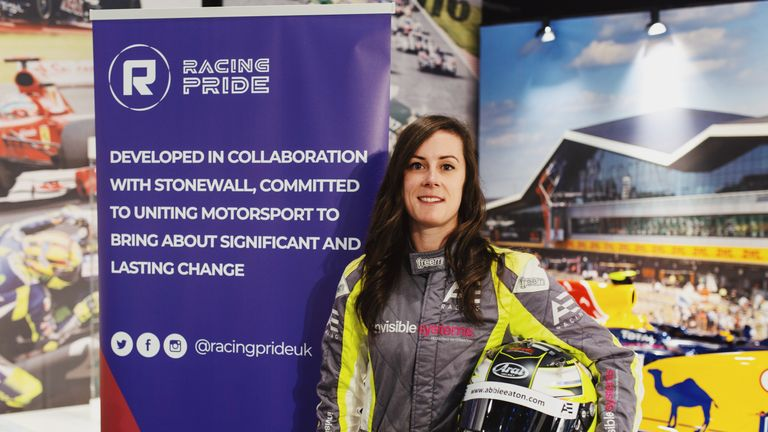 Abbie Eaton is the latest recruit to Racing Pride's roster of driver ambassadors (images courtesy of Daniel Bridle & The Silverstone Experience)