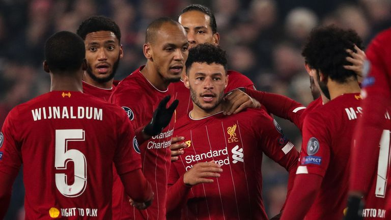 Alex Oxlade-Chamberlain scored in successive Champions League games for Liverpool on Tuesday