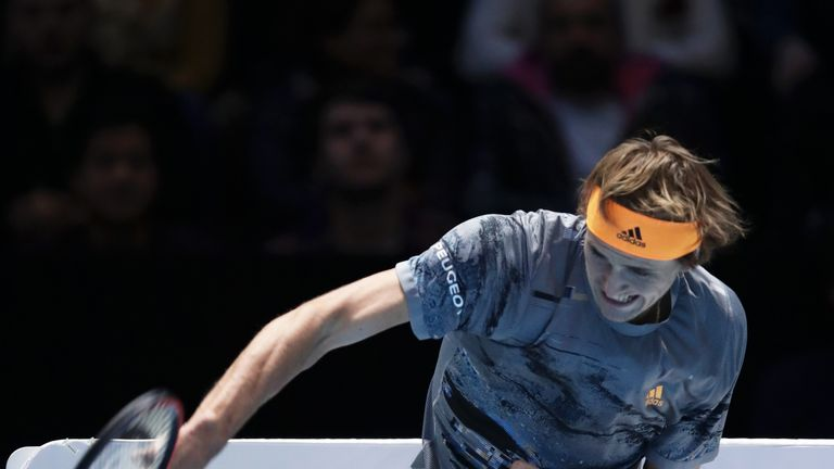 Alexander Zverev served a double fault to lose the first set
