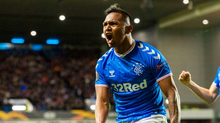 Alfredo Morelos' goal got Rangers underway with just their second shot on target