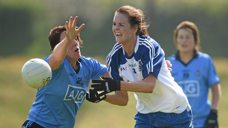 Finnegan in action for Monaghan