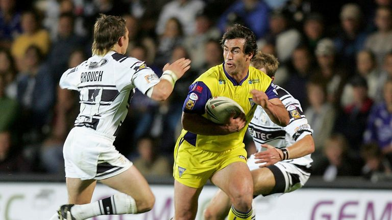 Andrew Johns in action for Warrington in 2005