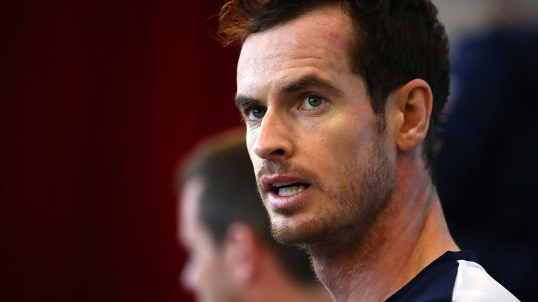 Andy Murray suffered pelvic bruising during the Davis Cup in November