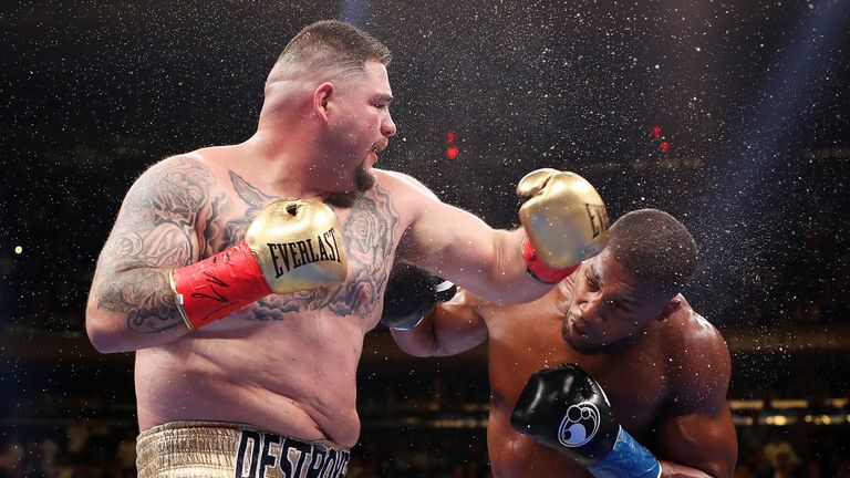 Ruiz Jr shocked Joshua in New York