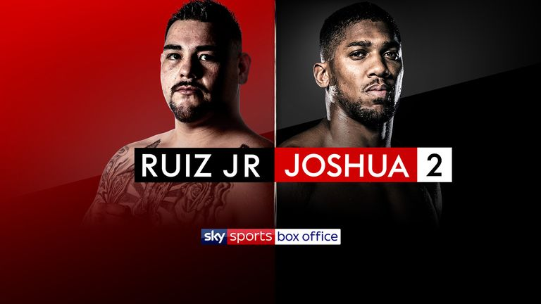 Anthony Joshua's rematch with Andy Ruiz Jr is live on Sky Sports Box Office