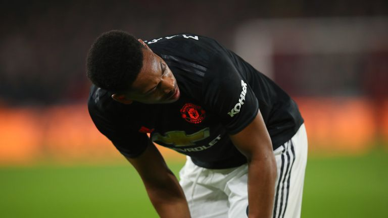 Anthony Martial was way short of his best for Manchester United