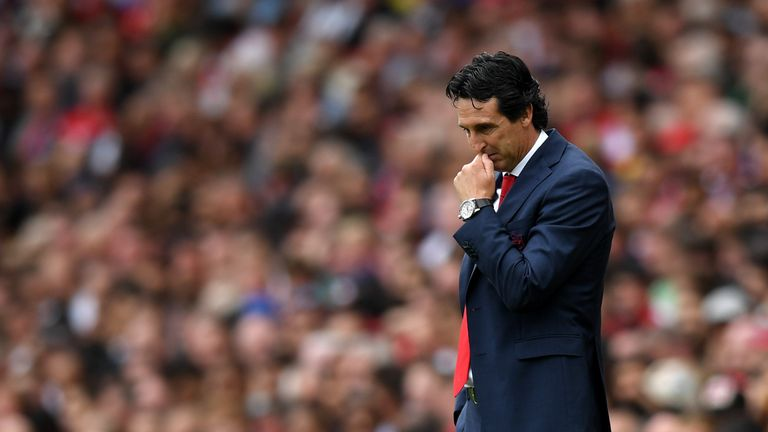 Unai Emery's Arsenal record is worse than predecessor Arsene Wenger's.
