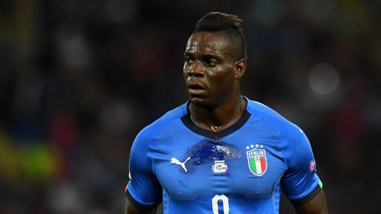 Mario Balotelli has not played for Italy since a Nations League game against Poland last year