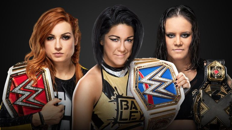 The women's champions of Raw, SmackDown and NXT - Becky Lynch, Bayley and Shayna Baszler - will go head to head at Survivor Series