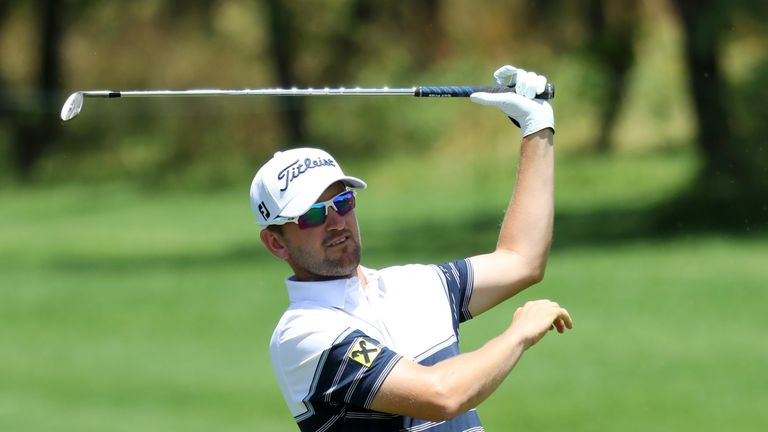Wiesberger mixed four birdies with a bogey and a double-bogey