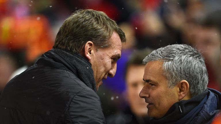 during the Capital One Cup Semi-Final first leg match between Liverpool and Chelsea at Anfield on January 20, 2015 in Liverpool, England.
