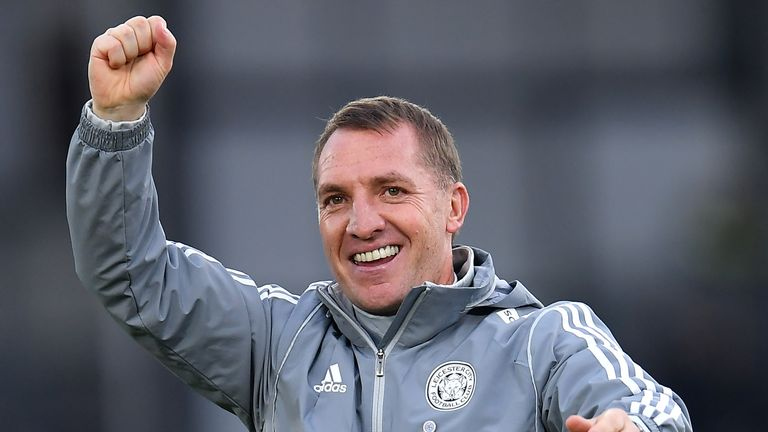 Brendan Rodgers has guided Leicester to second in the Premier League