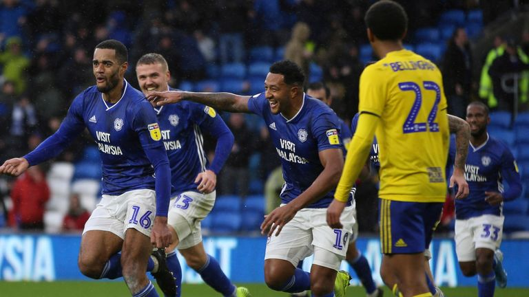 Cardiff beat Birmingham 4-2 with both teams having players sent off