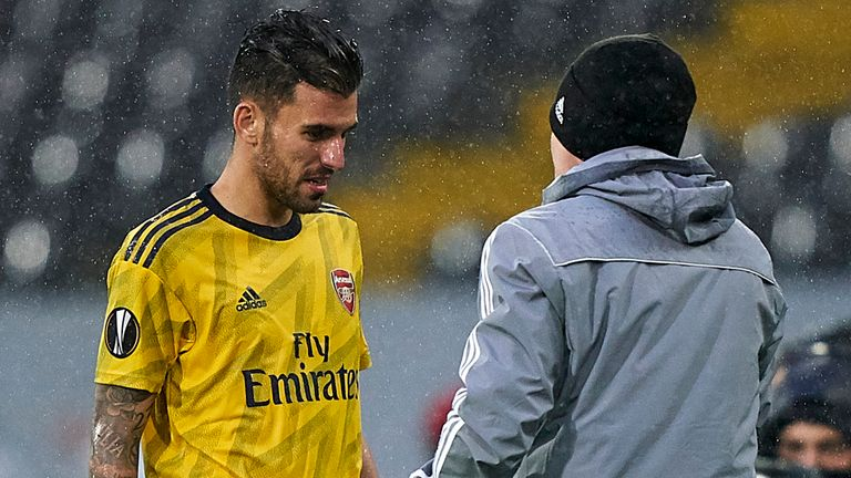 Dani Ceballos injured his hamstring in Arsenal's match with Vitoria SC