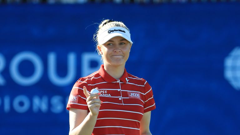 Charley Hull was pipped at the post in Florida