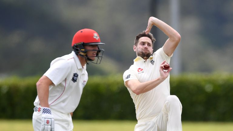 England seamer returned 0-28 from 10 overs on day two of the warm-up match against a New Zealand XI