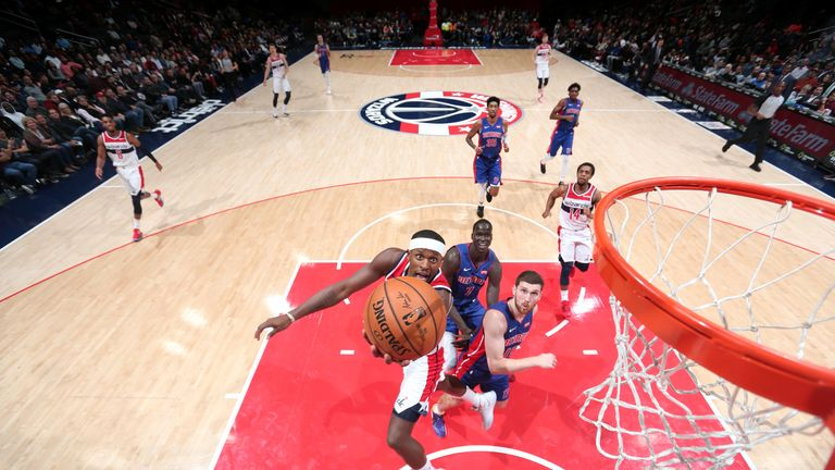 C.J. Miles of the Washington Wizards shoots the ball against the Detroit Pistons