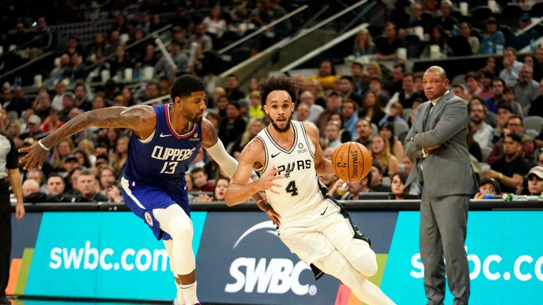 San Antonio Spurs against LA Clippers in the NBA