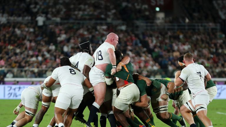 Dan Cole and the England scrum struggled throughout the final