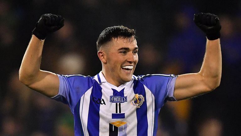 Back in the big time! Colm Basquel of Ballyboden St Enda's celebrates after the Dublin county final win over Thomas Davis