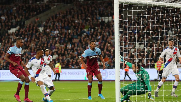 Jordan Ayew's goal was allowed to stand and West Ham's form has not recovered