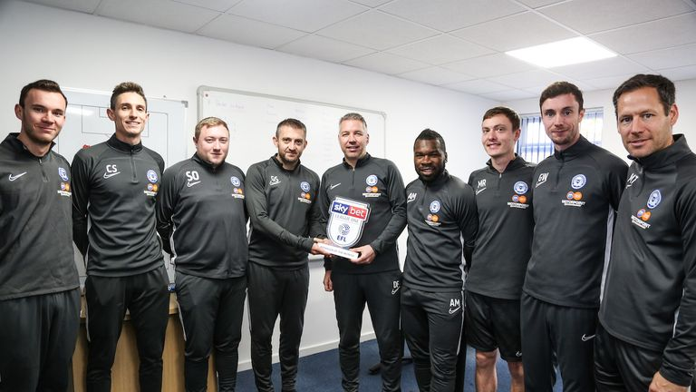 Darren Ferguson of Peterborough United wins the Sky Bet League One Manager of the Month award - Mandatory by-line: Joe Meredith/JMP - 07/11/2019 - FOOTBALL -  - , England - Sky Bet Manager of the Month Award