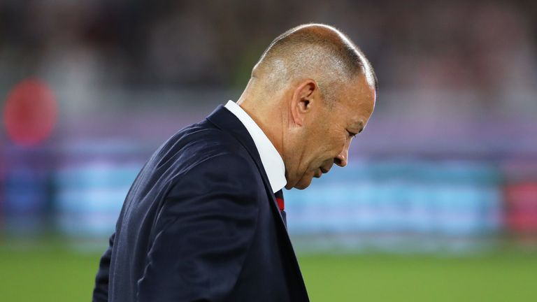 Eddie Jones suffered his second defeat as a head coach in a Rugby World Cup final