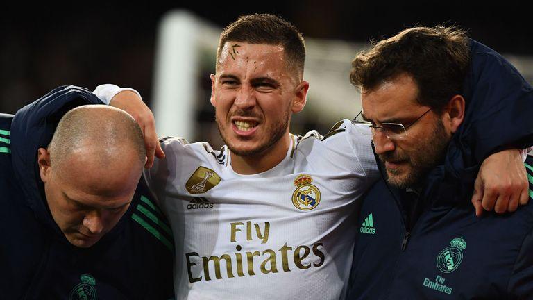 Eden Hazard's debut season at the Bernabeu has been hit by injuries