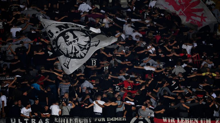 Eintracht Frankfurt fans will not be able to buy tickets for their game with Arsenal following incidents against Vitoria Guimaraes