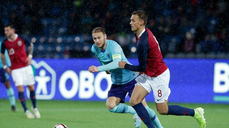 Emil Bohinen of Norway U21s