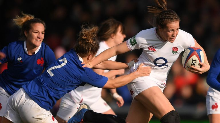 Emily Scarratt and co will get the chance to win a Six Nations Grand Slam in Italy on November 1