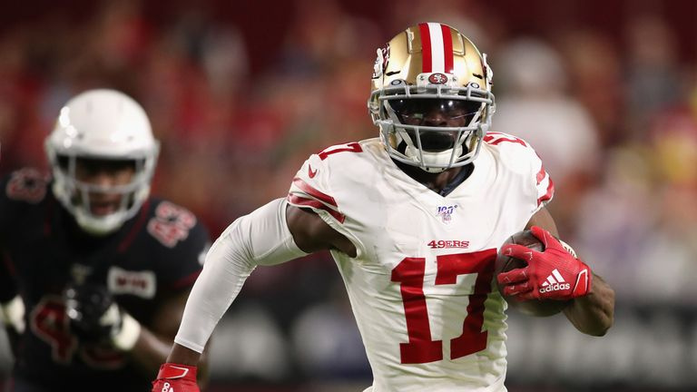 San Francisco 49ers' Emmanuel Sanders suffers cartilage damage in Seattle Seahawks loss