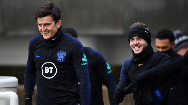 England defender Harry Maguire insists there are no club cliques within the squad and 'everybody mixes' as England prepare for their Euro 2020 qualifier against Montenegro.