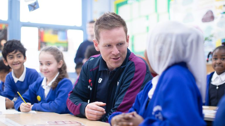 England white-ball skipper Eoin Morgan at the launch of the 'Roar! for Diversity' initiative