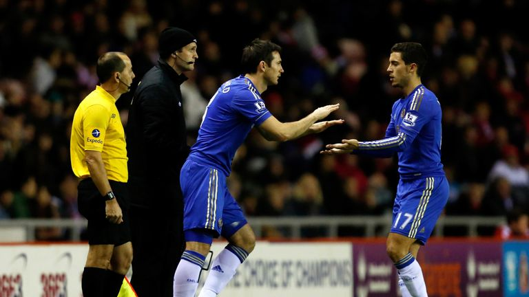 Eden Hazard says Frank Lampard can be one of the best